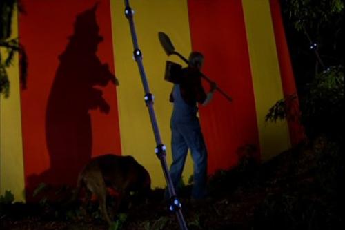 Killer Klowns kill a doggie.